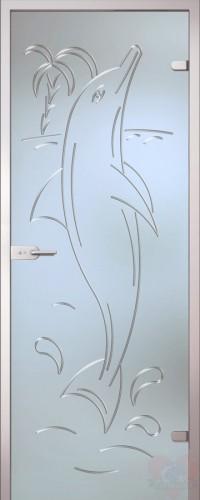 Дверь стеклянная межкомнатная Дельфин