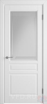 Дверь эмалированная белая Стокгольм ДО