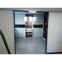 Двойная раздвижная стеклянная дверь Лайт-2 - стекло прозрачное
