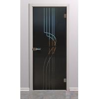 Дверь стеклянная межкомнатная Грация - Стекло серое матовое