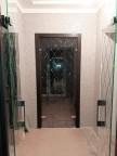 Стеклянная дверь Ромбы - Стекло прозрачное бесцветное