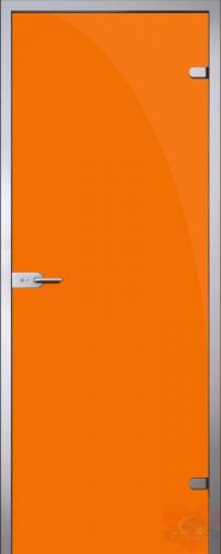 Дверь стеклянная межкомнатная триплекс Оранжевый