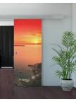 Раздвижная стеклянная дверь с фотопечатью - Закат