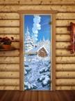 Дверной блок для сауны Русская Баня - 05