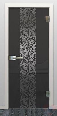 Дверь стеклянная межкомнатная Верона - Стекло прозрачное серое