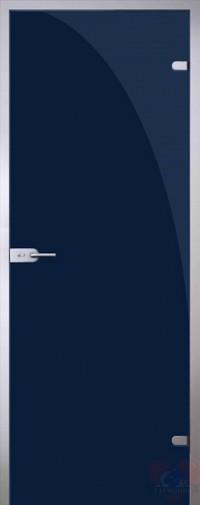 Дверь стеклянная межкомнатная триплекс Синий