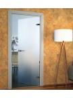 Стеклянная межкомнатная дверь Лайт - Сатинато Белое