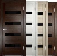 Дверь межкомнатная экошпон Мюнхен 03 лакобель черное