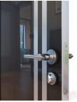Дверь межкомнатная пвх ДГ-506 Венге глянец с алюминиевой кромкой