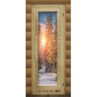 Дверь для сауны люкс - Зима