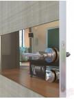 Дверь межкомнатная пвх ДО-501 Серый дуб - Зеркало бронза