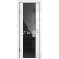 Дверь межкомнатная Белый глянец Диана черный триплекс