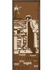 Стеклянная дверь Маяк - Сатинато Бронза