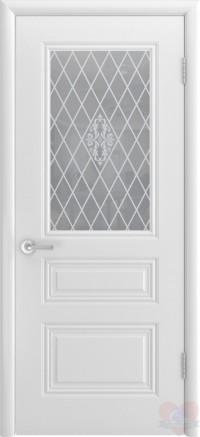Дверь эмалированная белая Трио ДО