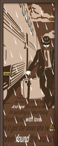 Дверь стеклянная Перрон-2 - Сатинато Бронза