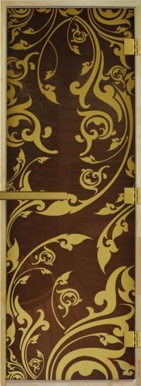 Стеклянная дверь для сауны - Золотая Венеция