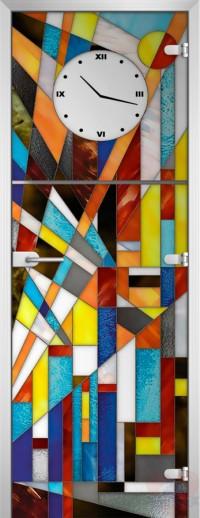 Дверь стеклянная Stained Glass-05 матовое бесцветное