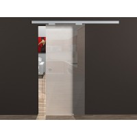 Одинарная раздвижная стеклянная дверь М2 - комплект