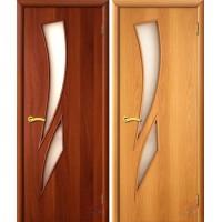 Дверь ламинированная 4С8 - остекленная