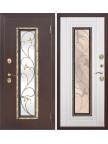 Входная дверь со стеклопакетом Плющ - Белый ясень