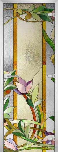 Дверь стеклянная Stained Glass-04 матовое бесцветное