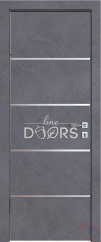 Дверь межкомнатная пвх ДГ-505 Бетон темный