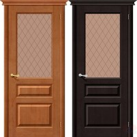 Дверь межкомнатная из массива сосны М-5 ДО бронза