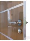 Дверь межкомнатная пвх ДГ-505 Анегри тёмный глянец с алюминиевой кромкой
