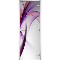 Дверь стеклянная Abstraction-19 матовое бесцветное