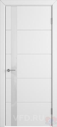 Дверь эмалированная белая Тривиа ДО