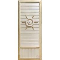 Дверь для сауны липа - Штурвал