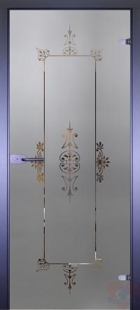 Дверь стеклянная межкомнатная Mirra - Рамка-4