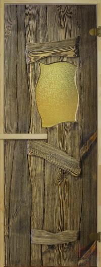 Стеклянная дверь для сауны Русская Баня - 03