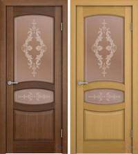 Дверь межкомнатная шпонированная Сиена ДО орех, дуб