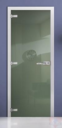 Дверь стеклянная фотопечать RAL 6021 матовое бесцветное