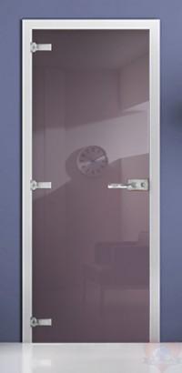Дверь стеклянная фотопечать RAL 4009 матовое бесцветное