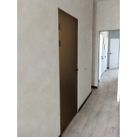Маятниковая стеклянная дверь Лайт - Сатинато бронза