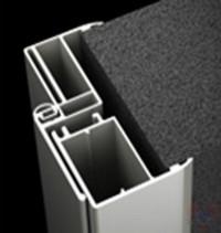 Коробка алюминий для стеклянной двери К5