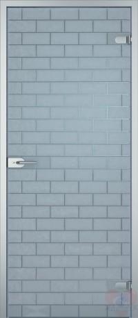 Дверь стеклянная межкомнатная Лофт