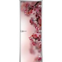 Дверь стеклянная Flowers-16 матовое бесцветное