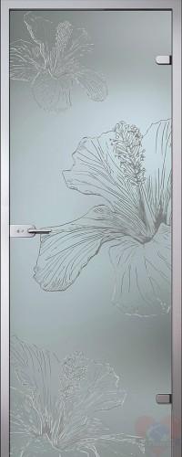 Дверь стеклянная межкомнатная Герда - Сатинато Белое