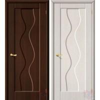 Дверь межкомнатная пвх Вираж ДГ венге/белен.дуб
