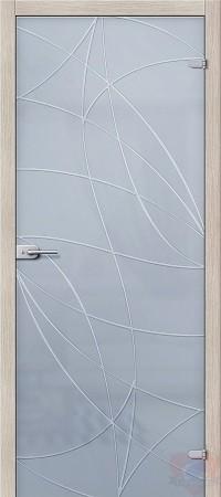 Дверь стеклянная Браво Аврора - Сатинато Белое