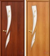Дверь ламинированная 4С8Ф - остекленная