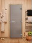 Стеклянная дверь для сауны Эталон - стекло бесцветное матовое
