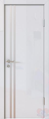 Дверь межкомнатная пвх ДГ-506 Белый глянец
