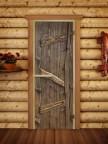 Дверной блок для сауны Русская Баня - 04