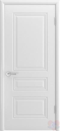 Дверь эмалированная белая Трио ДГ