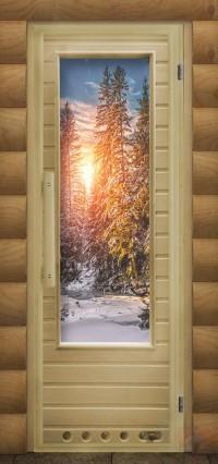 Дверь для сауны элит - Зима