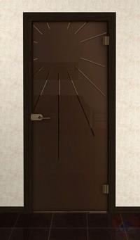 Дверь стеклянная межкомнатная Корона - Стекло бронза матовое